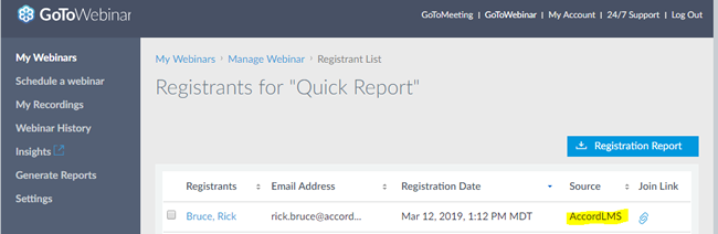 GoToWebinar - Registered Users